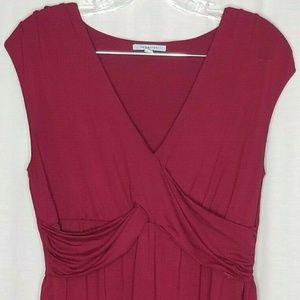 Anthropologie Leifnotes Burgundy Sleeveless Top S